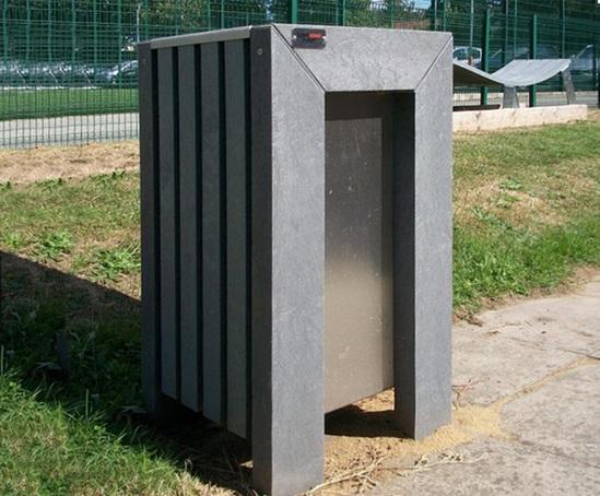 Plaza recycled plastic litter bin 70 litre capacity