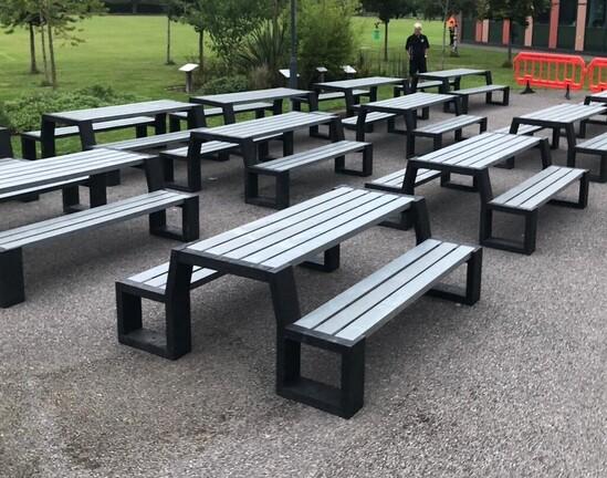St. Bartholomews School. Matrix 08 picnic tables