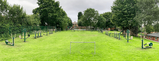 Outdoor gym for 34 users - Greenhill Primary School