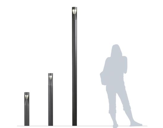 Pharola illuminated bollard available in 3 sizes