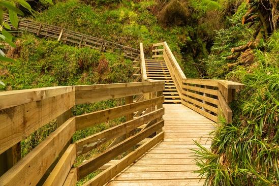 Isle of Man walkway made with SW anti-slip decking