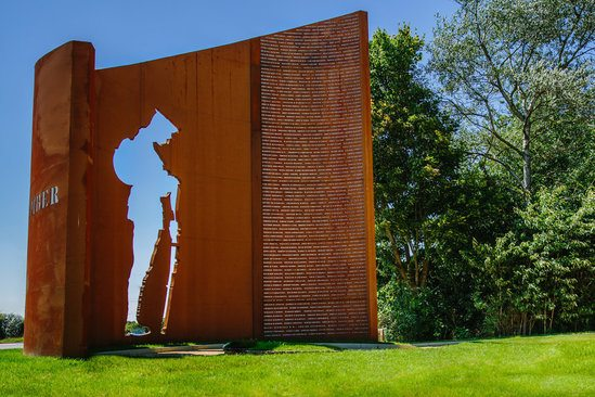 WW1 war memorial - made from corten steel