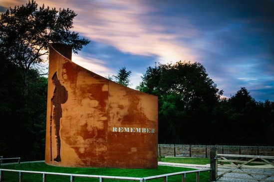 WW1 memorial in corten steel. We will remember them.