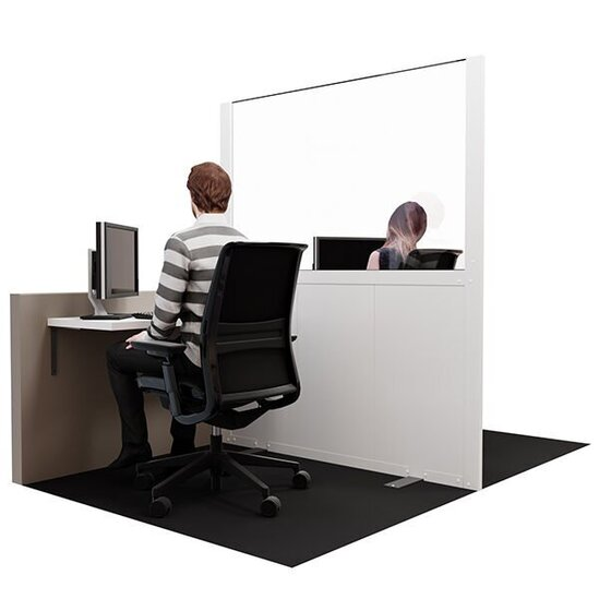 Hoardfast social distancing screen - office