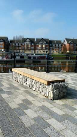 Seating designed for narrow boat marina northwich quay for Furniture quay