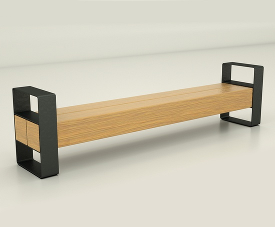 140 Beam Bench with arms
