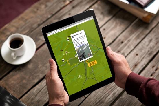 Cross platform interactive cycling maps