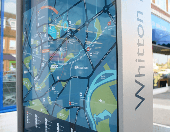 Digitally printed map and retail index