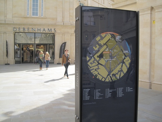 Signage system for Southgate Shopping Centre Bath