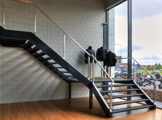 square line posted railing system q railing esi. Black Bedroom Furniture Sets. Home Design Ideas