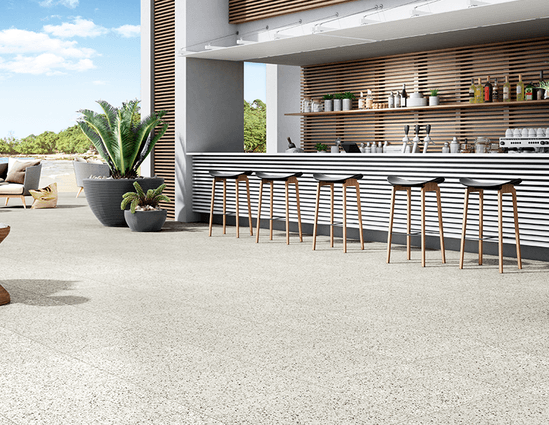 Terrazzo porcelain paving