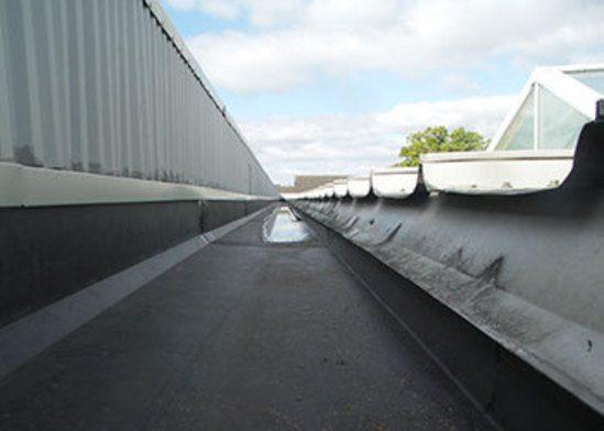 After UniFOLD® gutter lining installation