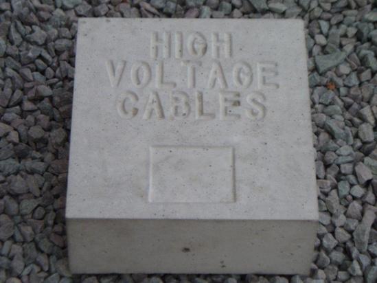 Hv Cable Markers : Precast concrete cable marker blocks elite