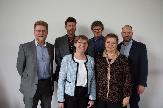 Peter Thompson (far left) is retiring from ISO CHEMIE