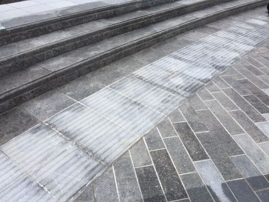 Scottish Whinstone steps at CS Lewis Square, Belfast