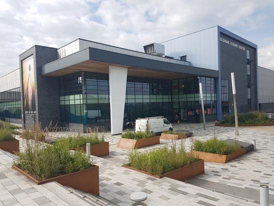 Planterline bespoke planters - Oldham Leisure Centre