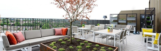 Decking and planters for Vantage Point, London