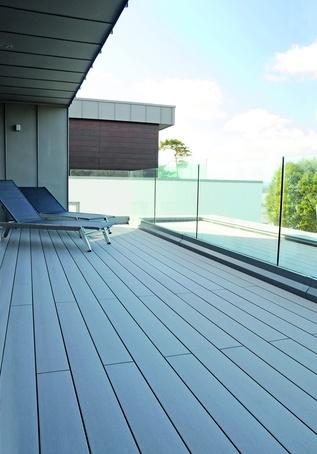 Terrafina composite decking for luxury housing