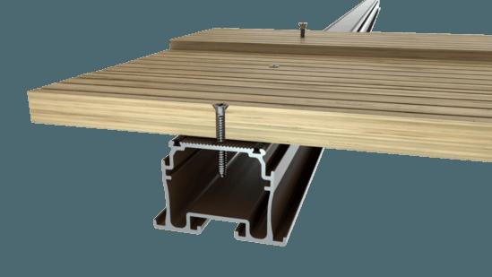 Aluminium support joist for decking