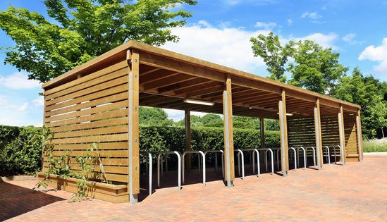 Cycle shelter & cycle racks - SCS304 NS & MCR201