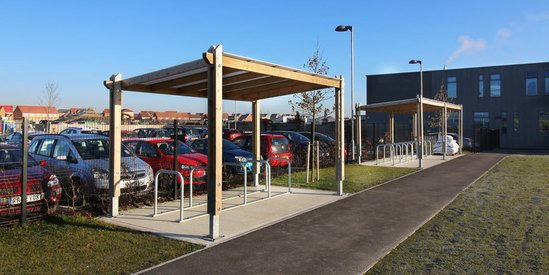 Sheldon Timber Cycle Shelter - SCS300
