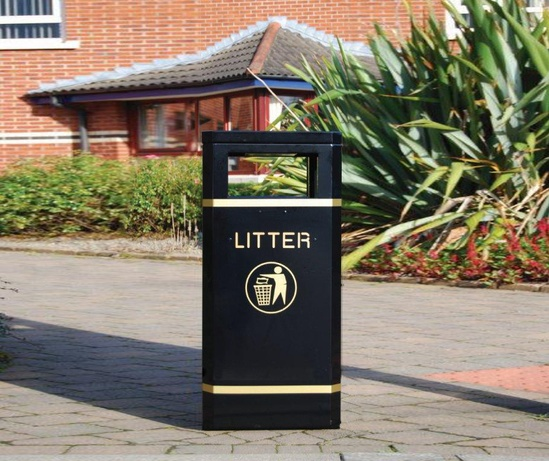 Malford Front Opening Steel Litter Container - MLC209