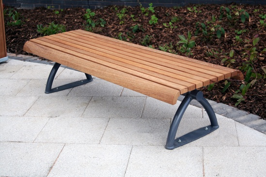 Langley Hardwood Iroko Bench - LBN106