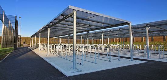 Malford steel cycle shelter - MCS210