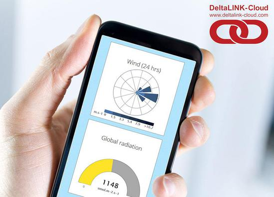 DeltaLINK-Cloud dashboard for dataloggers
