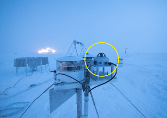 SPN1 Pyranometer measures Arctic solar radiation