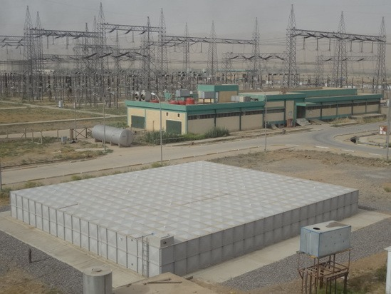 Dewey Waters GRP sectional water storage tanks in Iraq