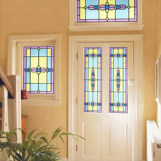 Ruskin - Art Nouveau style stained glass window film