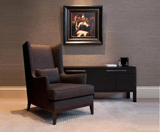 Blake Armchair With Wooden Frame