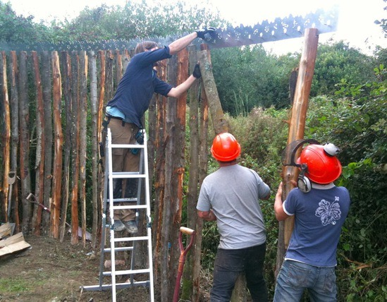 Natural timber fencing for Lampard Community School | Nick ...