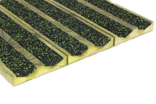 Aquadeck - example of a green and black fleck infill