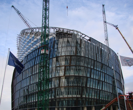 Co-op HQ at 1 Angel Square, under construction