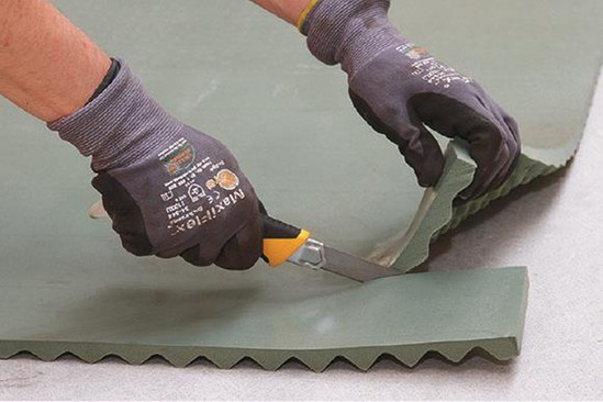 Easy to cut and install under screen