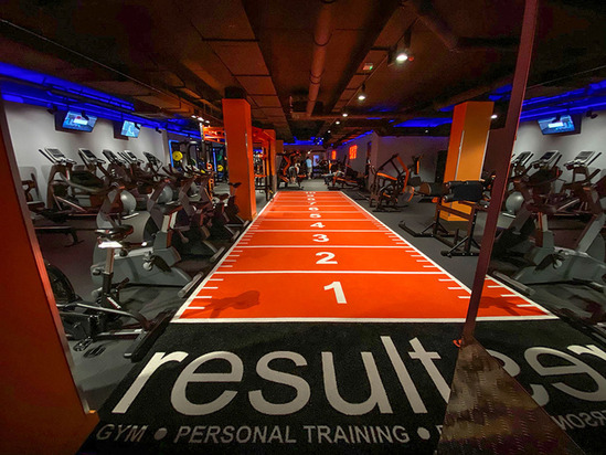 Floating acoustic floor - Result Fitness