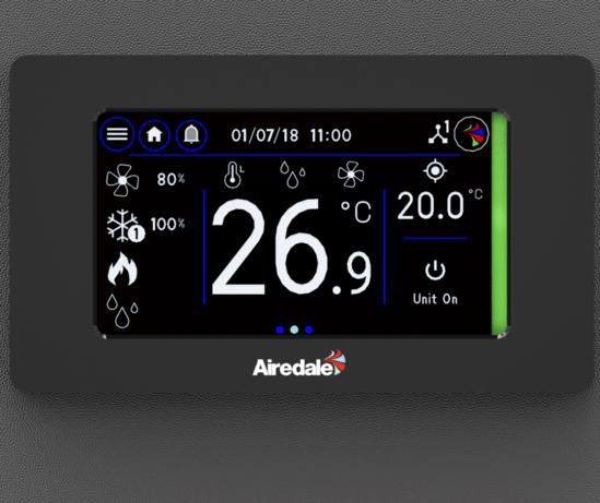 Vu™ colour touchscreen user interface