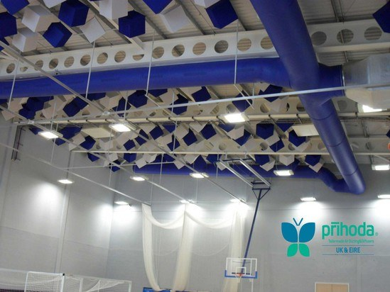 Textile Diffusers For Fitness Centres And Sports Halls