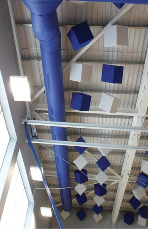 Bespoke fabric ducting for school