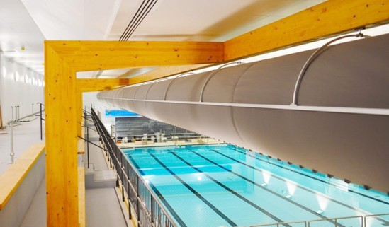 Fabric ducting for Bath Sports and Leisure Centre