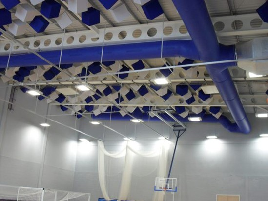 Prihoda fabric ducts - Whitmore School sports hall