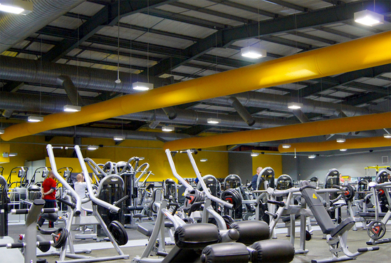 Prihoda fabric ducting for new Xercise4Less gym
