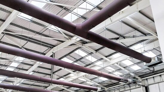 Fabric Ducting ventilation system for Clarity Pharma