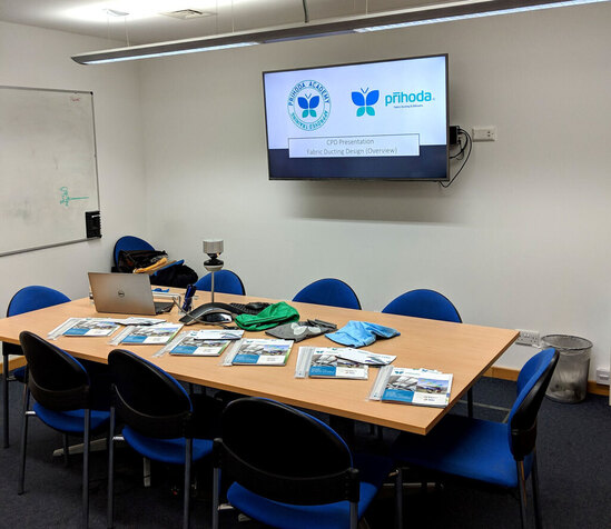 Fabric ducting design CPD from Prihoda