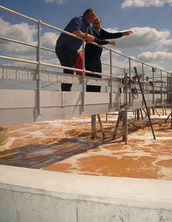 Activated sludge treatment aeration tank