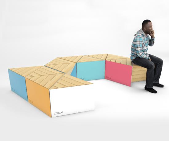 Sonobe seating unit