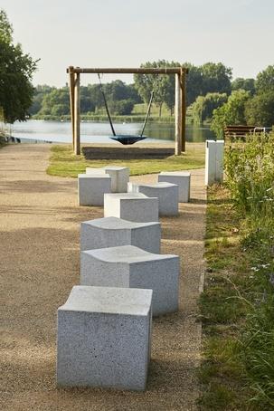 Serpentine granite stools