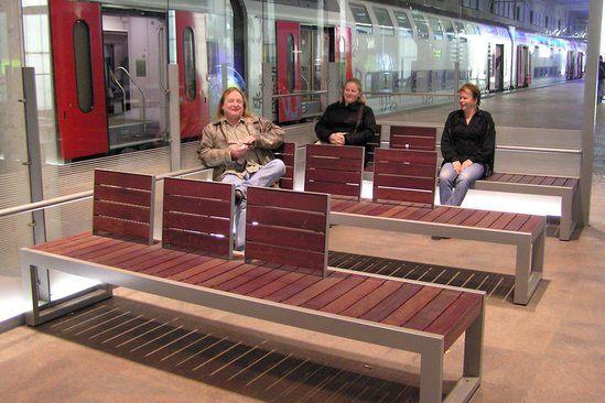 SKOP seats at railway station